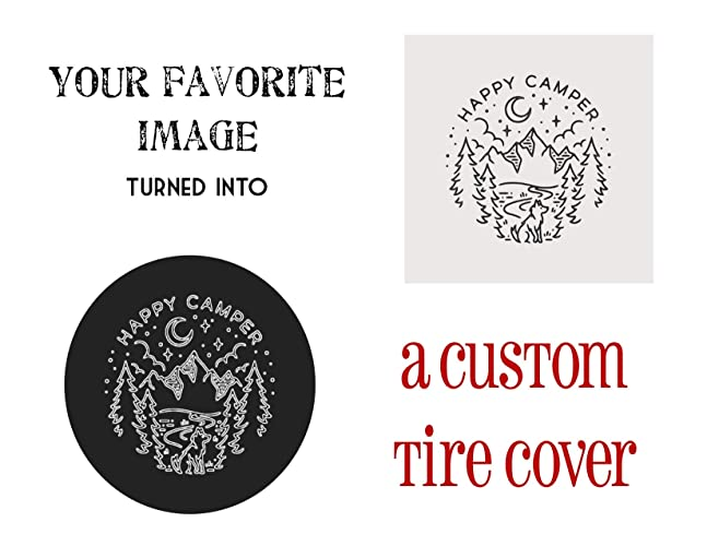 Amazoncom Custom Jeep Tire Cover Your Design On Spare Tire Cover