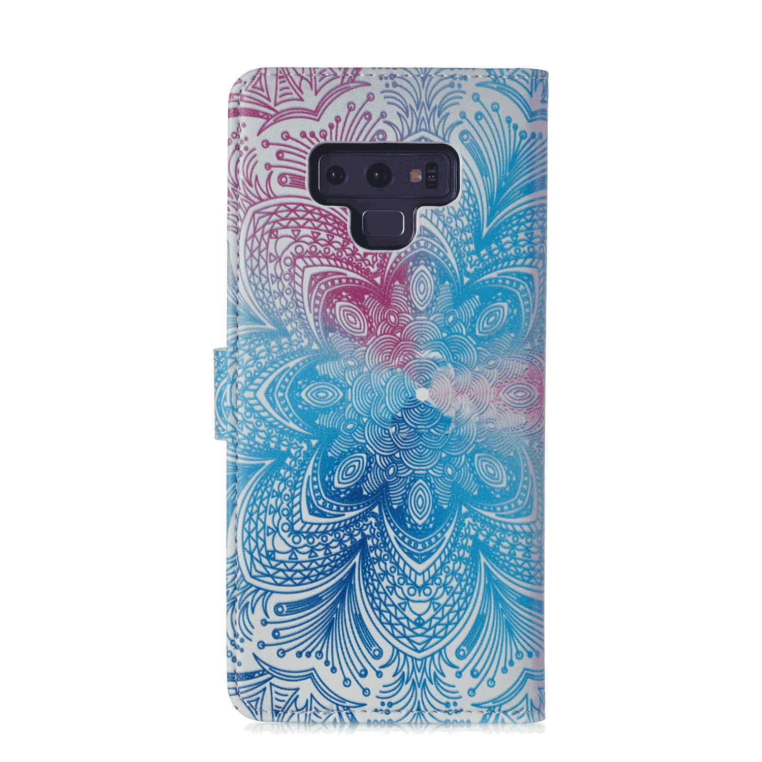 Leather Case Compatible with Samsung Galaxy S9 with Waterproof Case for Cellphone Flip Cover for Samsung Galaxy S9