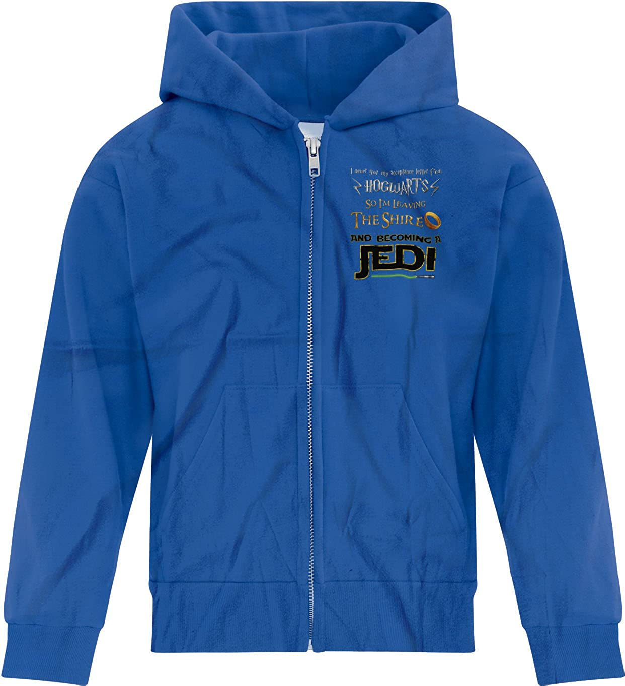 BSW Boys Harry Potter Lord of The Rings Star Wars Jedi Zip Hoodie XL Drk HTHR