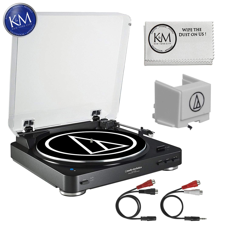 Audio-Technica AT-LP60 Turntable (Silver) + Extra ATN3600L Stylus + K&M Cloth