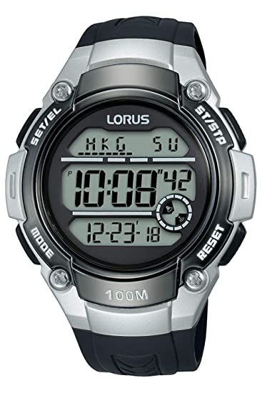 Lorus Digital Man Reloj para Hombre Digital de Cuarzo con Brazalete de Poliuretano R2331MX9: Amazon.es: Relojes