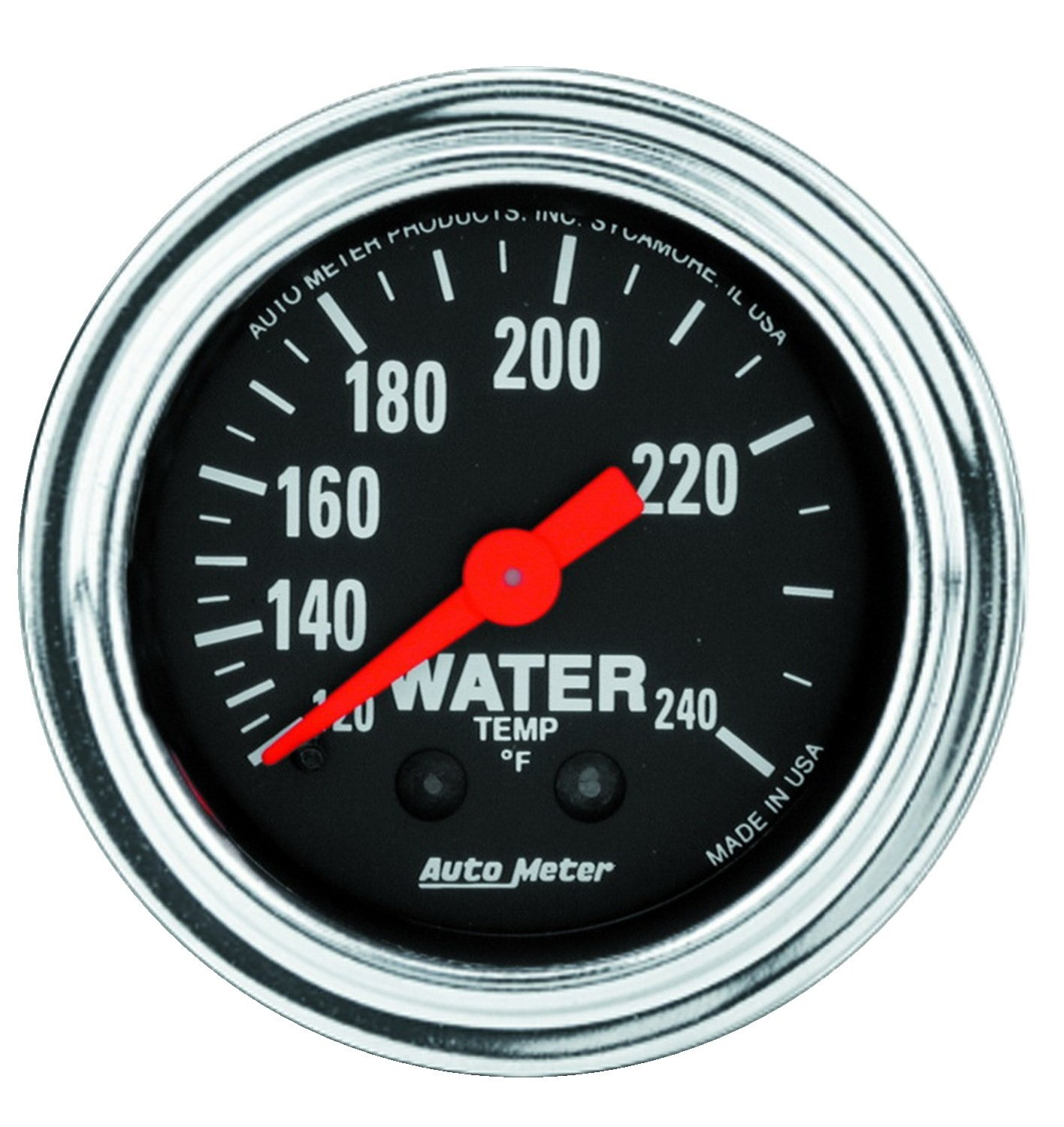 AUTO METER 2433 Traditional Chrome Mechanical Water Temperature Gauge by AUTO METER