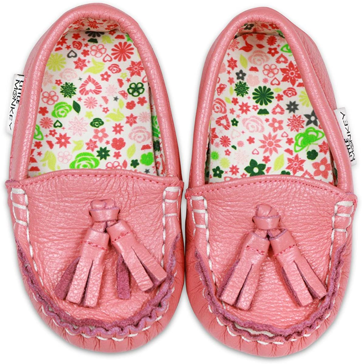 Little Monkey Toddler Leather and Pattern Moccasins