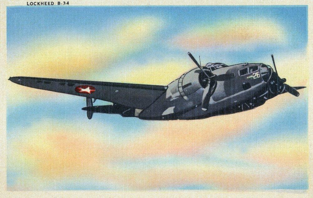 View of the Lockheed b-34 36 x 54 Giclee Print LANT-34247-36x54 B01MG3Y5SO  36 x 54 Giclee Print