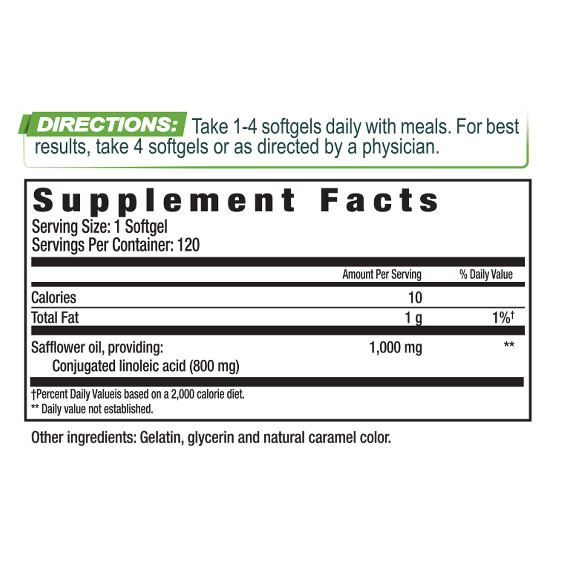 Performance Inspired Nutrition Cla Weight Management Soft-gels, 120 Count