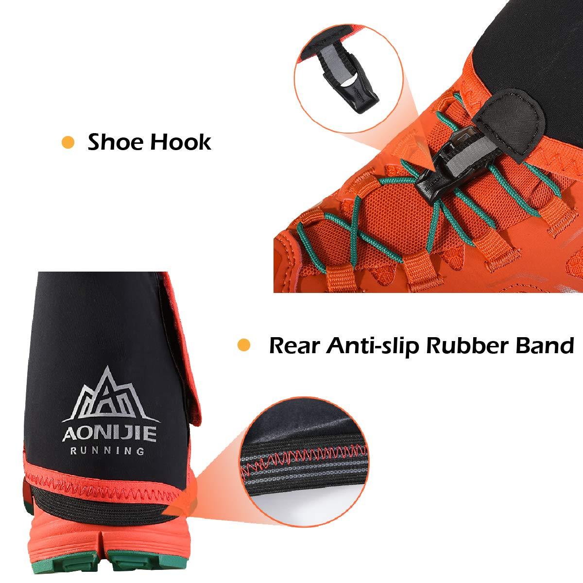 TRIWONDER Ghette da Neve Ghette Basse per Scarpe Ghette Impermeabili da Trekking Running Caccia Montagna Escursionismo Corsa per Uomo Donna