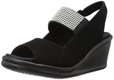 2f14828ccf28 Skechers Cali Women s Rumblers Sparkle On Wedge Sandal