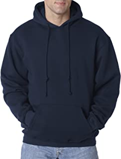 product image for Bayside Adult Pullover Matching Drawstring Hooded Sweatshirt, Navy, XXX-Large
