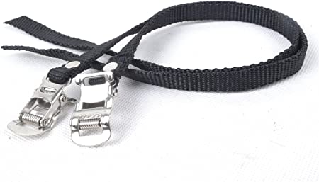 Details about  /New Black Toe Clips Bicycle Pedal Strap Sports Fitness Equipment AccessoYJSI