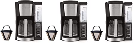 Ninja 12-Cup Programmable Coffee Maker with Classic and Rich Brews, 60 oz. Water Reservoir, and Thermal Flavor Extraction CE201 , Black Stainless Steel Thr k