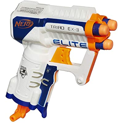 NERF N-Strike Elite Triad EX-3 Toy, Multicolor: Toys & Games