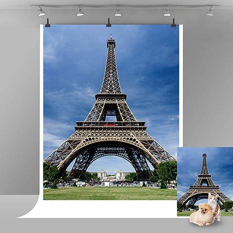 10X7ft Eiffel Tower Backdrop Firework City Night French Background Paris Landmar