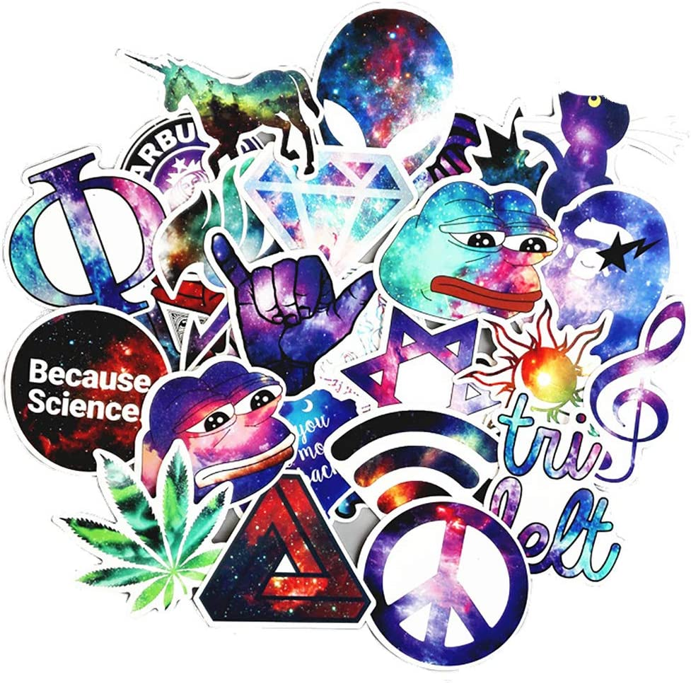 Galaxy Blue Aesthetic Stickers Skateboard Stickers Travel Luggage Stickers for Suitcases Decal Waterproof Stickers Pack for Laptop,Hydroflasks,Car and Gift for Adults Teens