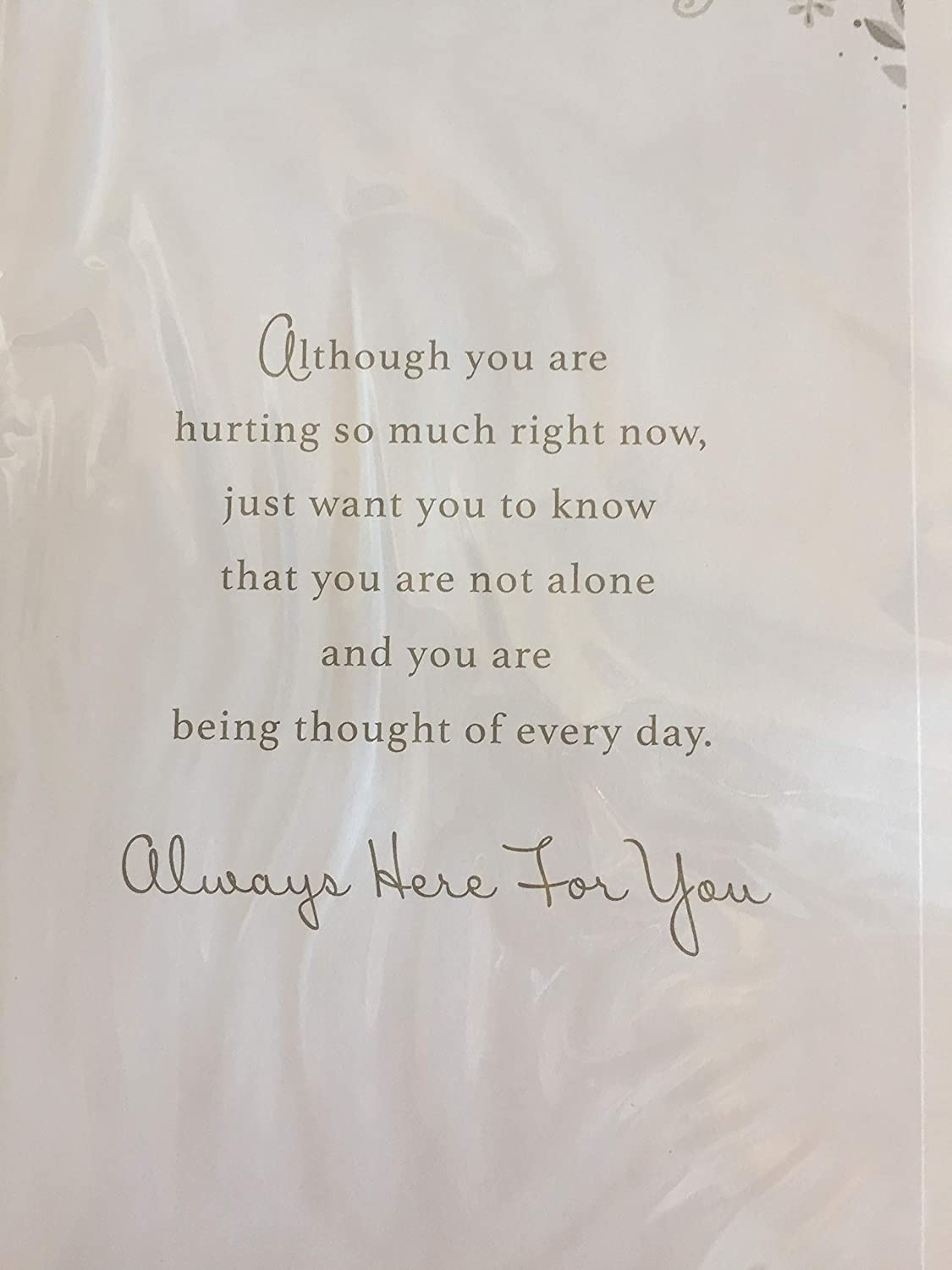Your Lovely Mum Will Always Be Remembered Mum Sympathy Card Condolence Loss White//Gold Words Pearls//Foil Detail