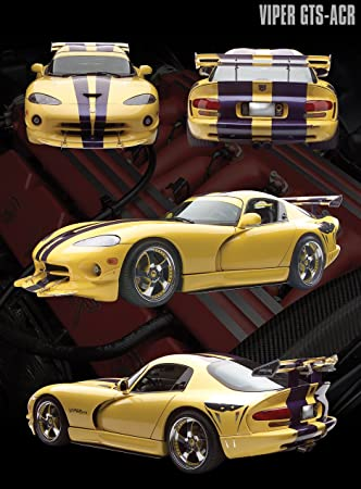 Dodge Viper Yellow GTS-ACR Sports Car Photography Hobby Poster Print 16x20