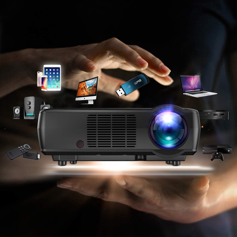Proyector Tenker HDMI, 1080p, 3200 lumen LCD Proyector de cine en ...