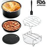 Air Fryer Accessories Kit Deep Fryer Universal for Philips Gowise and Cozyna Fit all 3.7QT - 5.3QT - 5.8QT by Fonhrrl