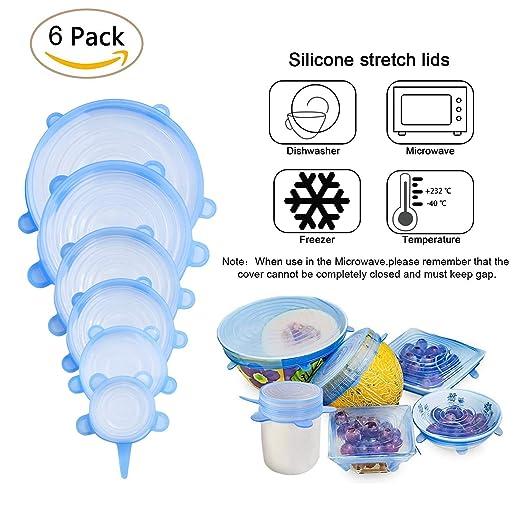Silicona Stretch tapas 6 paquetes succión tapa - Multi ...