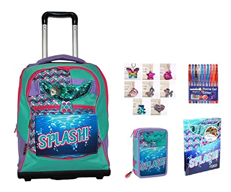 Trolley Mochila Escolar Go Pop Sirenita Splash Pop Up 5 ...