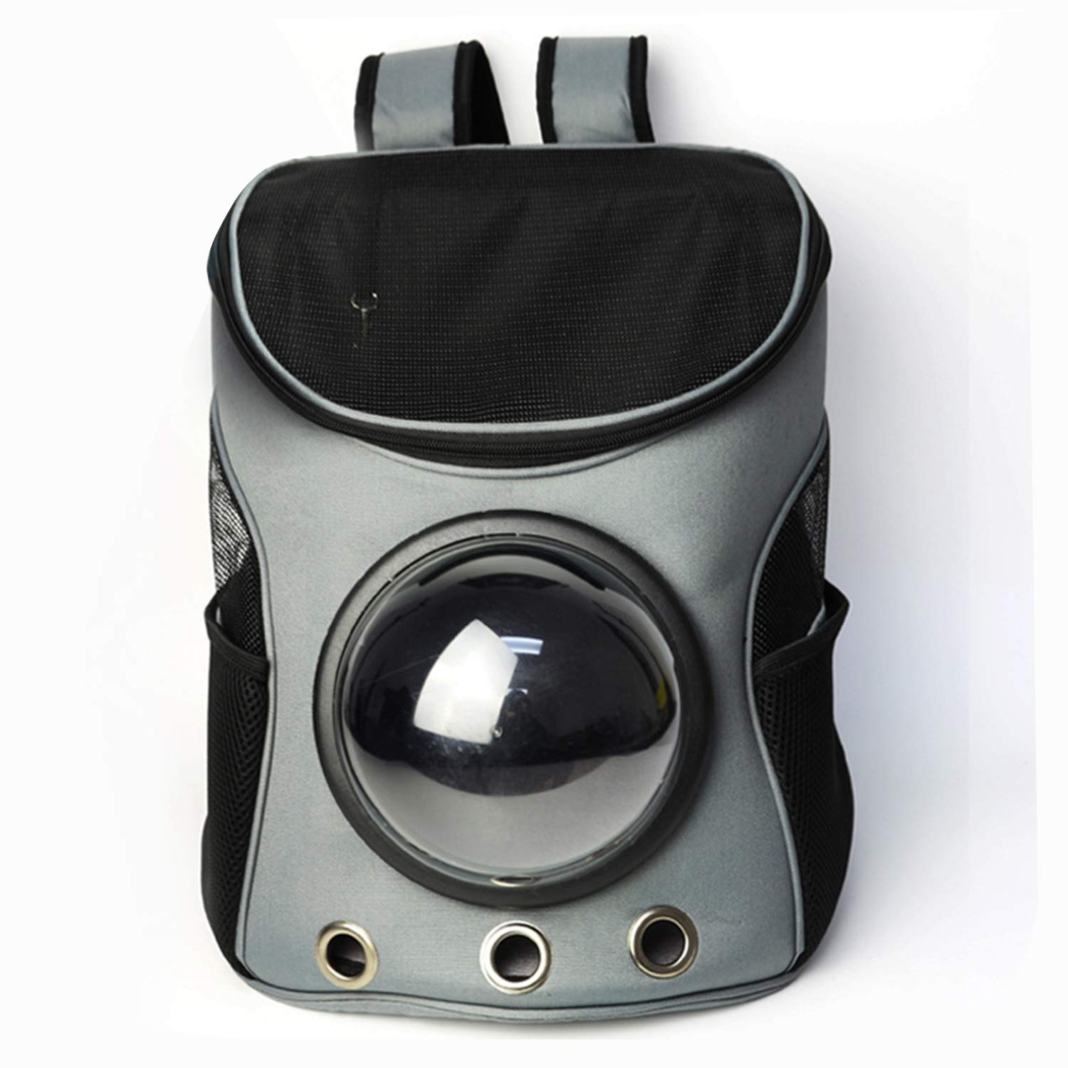Grey Pet Space Bag Cat Space Capsule Backpack Space Box Shoulders Outing Supplies,Grey
