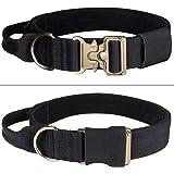 EXCELLENT ELITE SPANKER Tactical Dog Collar Soft Hook & Loop Padded Dog Collar Adjustable Military Dog Collar with Control Ha