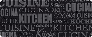 ID Mat Tapis de Cuisine, Fibres Polyamide teintées sur Semelle PVC antidérapante, Noir,120 x 50 cm