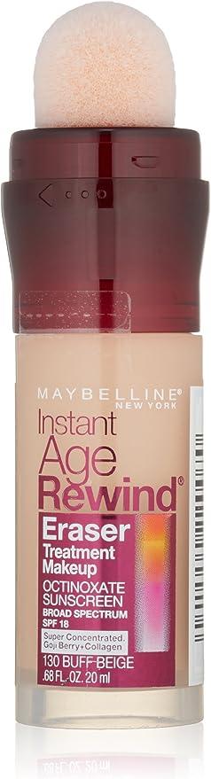 Maybelline New York Instant Age Rewind Eraser Tratamiento de maquillaje, 0.68 onzas líquidas, Buff Beige 130, .68 oz (20.11 ml): Amazon.com.mx: Salud y Cuidado Personal