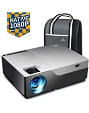 """VANKYO Performance V600 Native 1080P Full HD Movie Projector with 300"""" Projection Size, 4000 LUX HDMI Portable LED Projector with 50,000 Hours lamp Life, Compatible with TV Stick, XBOX, Laptop for Home Theater, Movie, Video Game, Party, Outdoor Movie and More [with Carrying Bag]"""