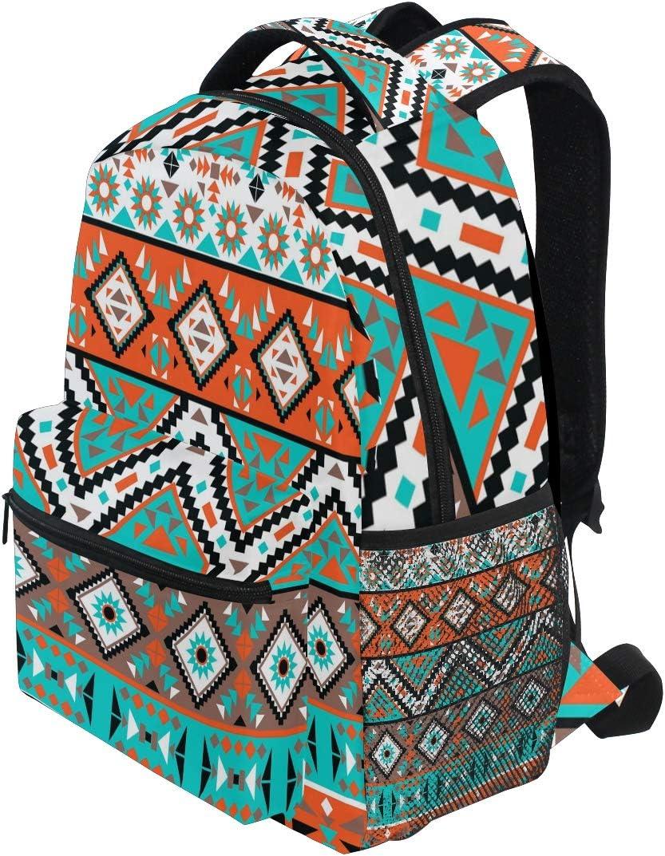 US Handmade Backpack With Adjustable Handle Aztec CONTIGO Rockabilly Halloween Pattern Handbag Purse bag NEW,