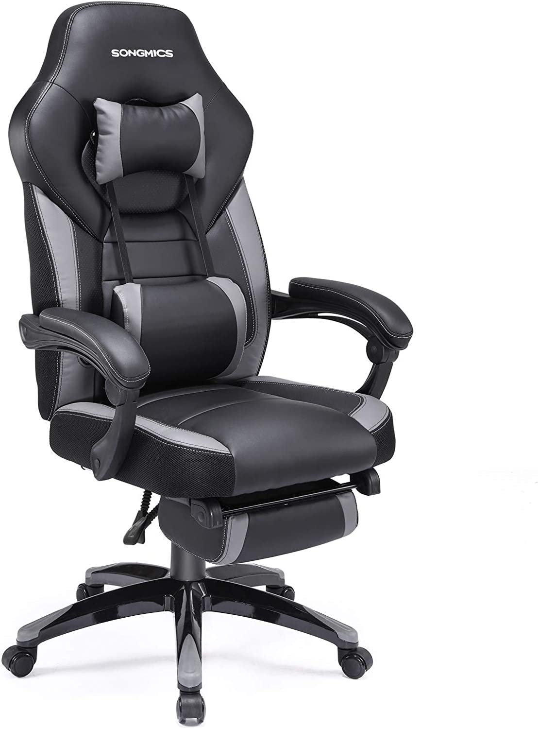 SONGMICS Office Racing Chair with Footrest