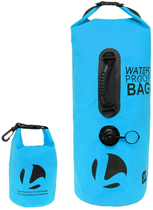 cbb3f981e0 LISH 30L Floating Waterproof Dry Bag - Roll Top Backpack Sack with Bonus  1.5L Pouch