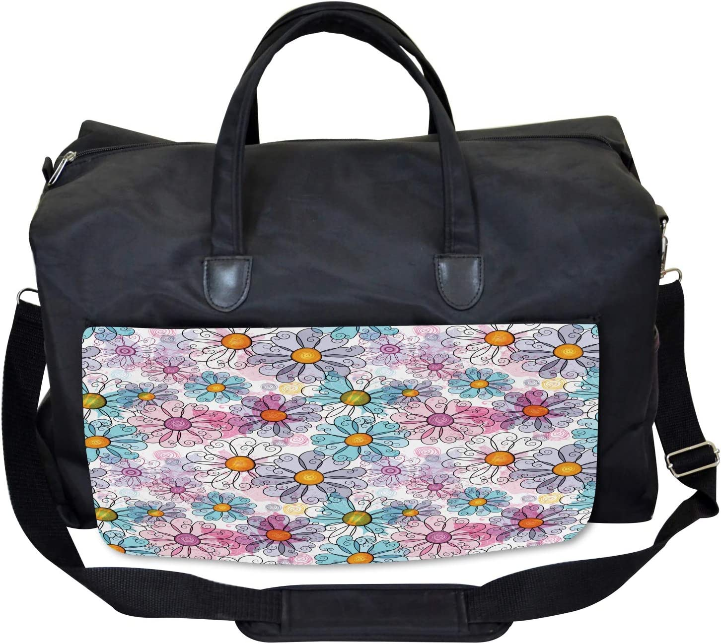 Retro Spring Grunge Ambesonne Colorful Gym Bag Large Weekender Carry-on