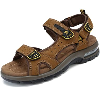 Gut CAMEL SHOES Summer Sandal Menu0027s Shoes Casual Leather Shoe Perfect For Beach  Outdoor Walking Traveling