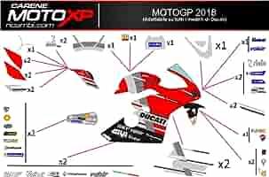 Pegatinas Adhesivos Motos Racing Ducati 1299 959 Panigale MT18: Amazon.es: Coche y moto
