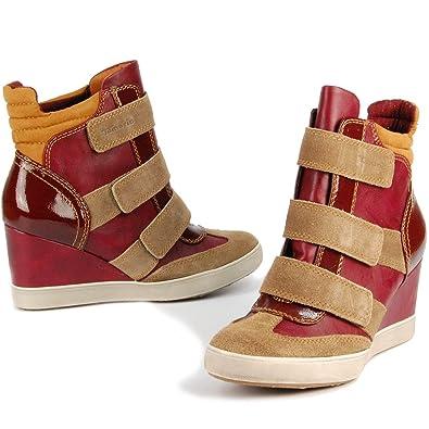 uk availability e1008 9a7e3 TAMARIS Damen Freizeit Klett-Sneaker, Echtleder, Keilabsatz ...