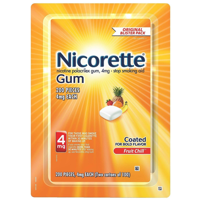 Nicorette Gum 4mg 200 pieces (Fruit Chill)