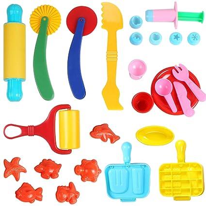 Home & Garden Alert 38pcs Clay Dough Tools Play Smart Dough Set Plastic Baking Dough Toys Extruder Sale Price Educational Materials
