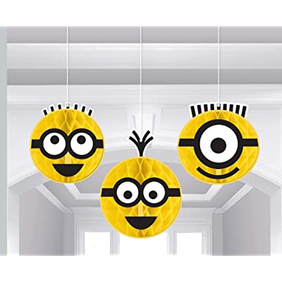 """Despicable Me"" Yellow Honeycomb Party Decorations, 3 Ct.: Toys & Games"