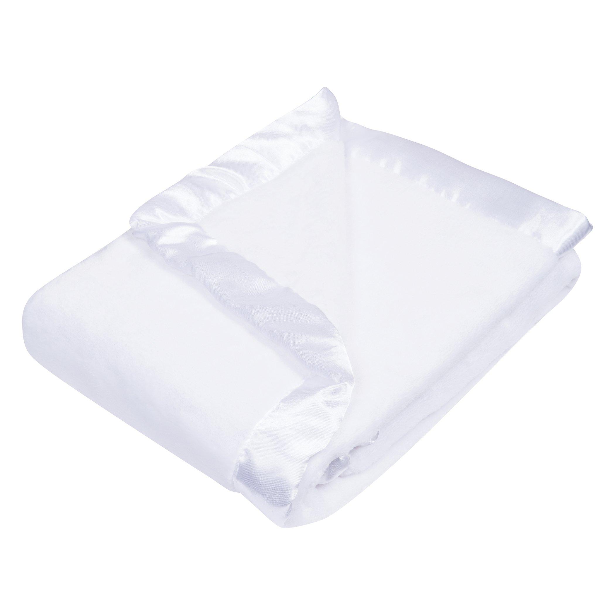 Trend Lab Plush Baby Blanket, White White