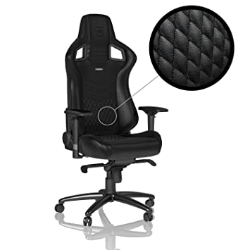 noblechairs NBL RL BLA 001 Epic Real Leather Gaming Fauteuil Bureau