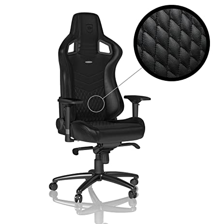 Amazon.com: noblechairs EPIC Real Leather - Black - Gaming Chair ...