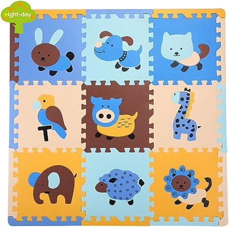 Bebé Animal Puzzle Espuma Esterilla Bebé Niño Estera Gateando ...