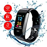 READ Sport Fitness Activity Tracker R18 Smart Watch Heart Rate Blood Pressure Sleep Support USB-charge Watch Waterproof Call Message and SNS Sedentary Remind Watch for Android IOS
