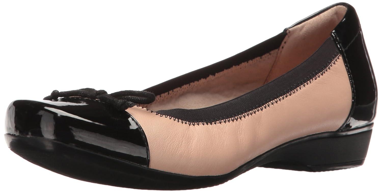 CLARKS Women's Blanche Nora Ballet Flat B01IAVNFNE 8.5 B(M) US|Nude Leather