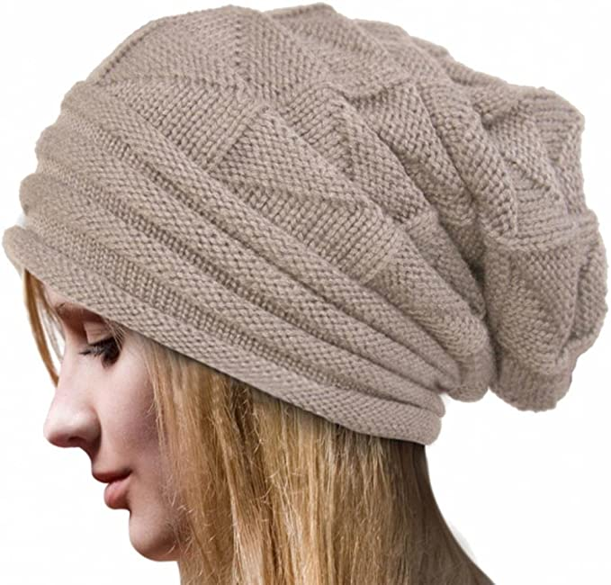Rcool Crochet Las Mujeres del Invierno Gorro de Lana Tejer Beanie ...