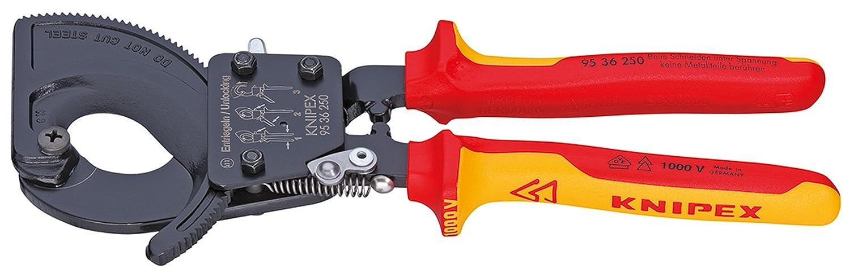 クニペックス KNIPEX 9536-250 絶縁ケーブルカッター 1000V(ラチェット式 B000NI6SHS