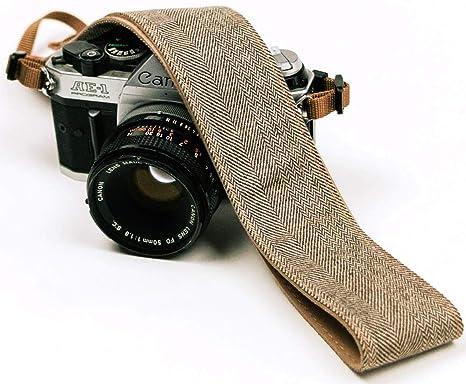 Correa de cámara con jeans marrones para cámaras DSLR: Amazon.es ...