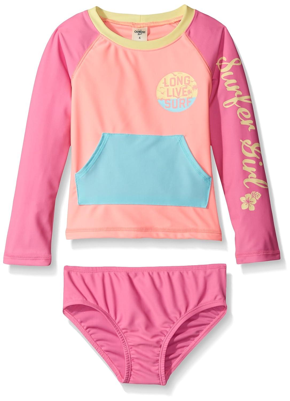 Osh Kosh Girls' Long Sleeve Rash Guard Set SB16A011-AN
