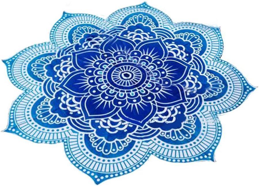 Couverture ronde mandala Pixnor Style hippie boho gypsy Id/éale comme serviette de plage ou tapis de yoga En forme de lotus