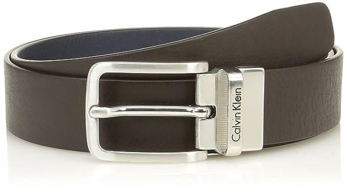 Calvin Klein Jeans MINO REV. Belt, Ceinture Homme, Multicolore (Dark Brown  bcfbfd8fb99